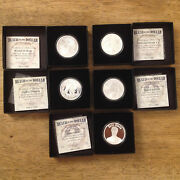 2017 Ssg Death Of Dollar 5 1 Oz Proof Member Only Silver Coin Set Dragon Dandd