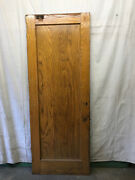 Very Tall Salvaged Wood Door Architectural Vintage 34x89-3/4