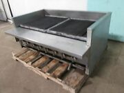 Imperial Heavy Duty Commercial Natural Gas 8 Burners 48w Radiant Charbroiler