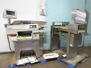 Lot Of 2 Mettler Toledo Commercial Wrapping And Labelling Machines W/smart Ctrl