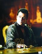 Ray Liotta Signed Autographed 11x14 Photo Sexy Sitting At Table Gv806139