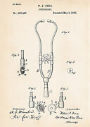 1882 Vintage Nurse Practitioner Gifts Presents Ford Stethoscope Patent Art Print