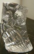 Vintage Waterford Art Crystal Owl Figurine 3.13 X 2.25 X 1.5 Excellent Cond