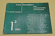 Trans Formation Arts Communication Environment A World Review 1 3 1952