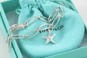 And Co. Elsa Peretti Silver Starfish Linked Large Chain 7.25 Bracelet