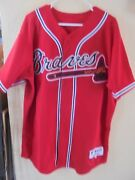 Vintage Atlanta Braves Jersey W/40th Year Patch Signed By Andruw Jones