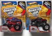 Hot Wheels Monster Jam Rare The Patriot Spectraflames Paint And Northern Nightmare