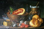 Food From My Villag Oil Painting On Canvas - Size 36x 24