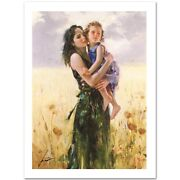 Pino Giclee On Canvas Signed/ Close To My Heart Size 30x22 Sold Out Edition