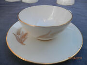 Set Of 4 Lenox R-442 Wheat Pattern Cups And Saucers..3 Sets Available..free Ship
