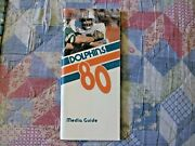 1980 Miami Dolphins Media Guide Yearbook Press Guide Program Nfl Football Ad