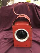 Vintage Kenyon Kenlite Made In England Bs3143 Red Traffic Light Lantern