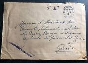 1942 Bab Menara Army Forces France Cover To Red Cross Switzerland