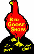 Red Goose Shoes For Boys And Girl Advertisement Plasma Cut Metal Sign