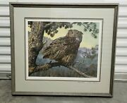 Carl Brenders Silent Hunter Limited Edition Signed Print /950 Great Horned Owl