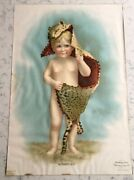 Antique Victorian Advertising Sign Akron Cereal Mothers Oats 1901 Mother's Boy