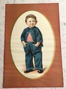 Antique Victorian Advertising Sign Great Western Cereal Mothers Oats Mothers Boy