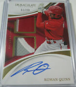 2017 Panini Immaculate Roman Quinn Rpa Signed Autographed Patch 'd 63/99 Sp