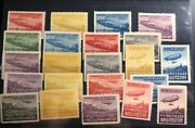 Mint Austria Early 1900s Parseval Vi Balloon Airship Labels Stamp Collection Lot