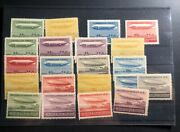 Mint Austria Early 1900s Dirigible Balloon Airship Labels Stamp Collection Lot