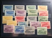 Mint Austria Early 1900s Balloon Labels Stamp Collection Lot Captain Ferber