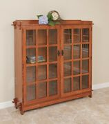 Mission Arts And Crafts | Stickley Style | Double Bookcase | Made To Order