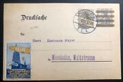 1909 Frankfurt Germany Postcard Cover To Wiesbaden Aircraft Fair Exhibition