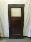 Salvaged Wood Vintage Door With Single Pane Glass Architectural Salvage 36x83