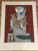 Listed French Artist Samy Briss Lithograph Print S/n Modern Contemporary Art Mcm