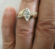 1.60 Carat 14k Gold Diamond Engagement Ring Center=1.10 D-si1 Value=13500