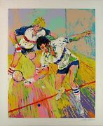Leroy Neiman Racquetball Hand S/n Le Serigraph Racket Player Sports Art