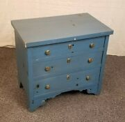 Lane Nightstand Chest Occasional Accent Side End Table Rustic Blue