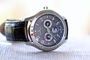 Universal Geneve 871.104 Okeanos Moon Stainless Steel Day Date Watch Complete