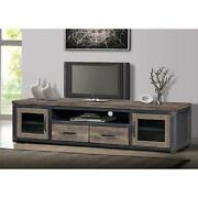 80 Wood Rustic Tv Stand Storage Entertainment Center Console Reclaimed Lk Gray