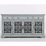 60 Tv Stand Media Console Cabinet Buffet Server Storage Living Dining Room Gray