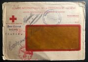 1942 German Commission In France Camp Window Cover To Red Cross Switzerland
