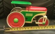 Vintage Tin Toy Steam Truck Road Roller Ms Web Wind Up Made In Germany Ddr Gdr