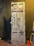 Large Vintage Salvaged Reclaimed Sliding Barn Wood Warehouse Door 4and039x12and039 6