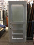 Exterior Wood Door Single Pane Of Glass Architectural Salvage 35-3/8