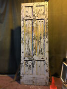 Large Vintage Salvaged Reclaimed Sliding Barn Wood Warehouse Door 4and039x12and039 4