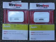 New Just Wireless Charging Dock Apple Iphone 4, 4s, Ipod Touch4th Gen-lot Of 2