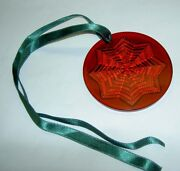 Lalique 2003 Noel Astre Star Snowflake Red Crystal Christmas Ornament Mint