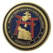 U.s. United States Marine Corps Usmc Security Force Regiment Gold Plated Coin