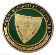 U.s. United States   Rhode Island State Police Risp   Gold Plated Challenge Coin