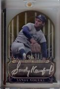 Sandy Koufax 2015 Topps Tribute To The Victors Autograph Gold Dodgers Sk 05/15
