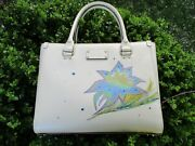 Sold Do Not Purchase White Kate Spade Hand Painted Floral Leather Satchel Bag