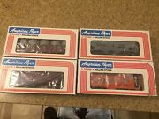 4 American Flyer Freight Cars In Marked Boxes . Nib