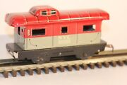 Vtg Marx Tin Litho Nyc New York Central 20102 Caboose Tinplate Red Andgray