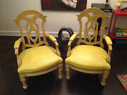 2 Two Large Antique Vintage Chairs Gothic Victorian Local Nyc Pick-up Only