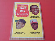 1962 Topps 54 1961 Hr Leaders Mays/cepeda/robinson N Mint/mint Or Better